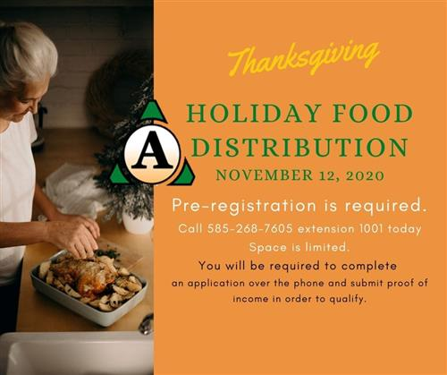 Holiday Food Distribution Graphic